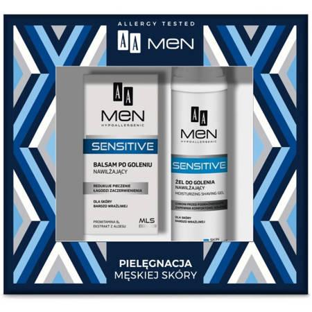 AA MEN Sensitive -żel do golenia+balsam po goleniu