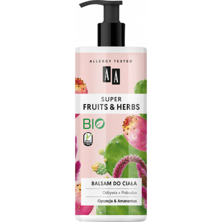 AA SUPER FRUITS&HERBS balsam do ciała opuncja&amarantus